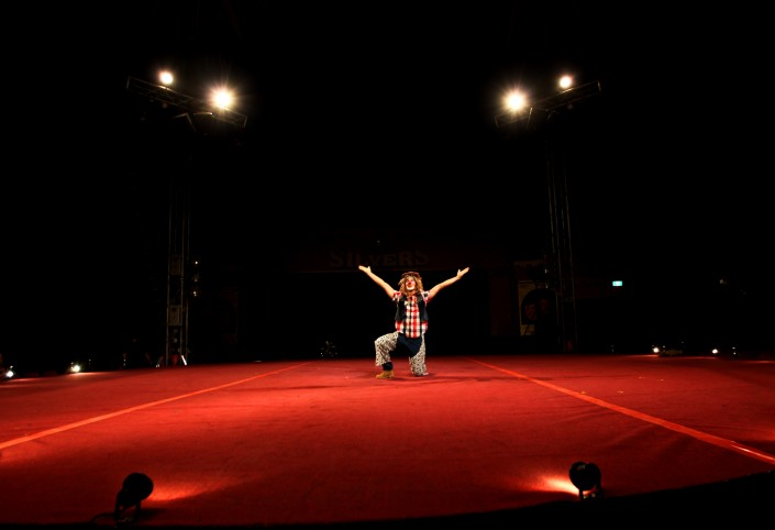 Manege frei - Andreas Schaible als Clown im australischen Zirkus